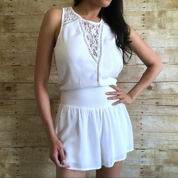 a585ecb5292d Abercrombie   Fitch Pants - Abercrombie   Fitch White Smocked Waist Romper